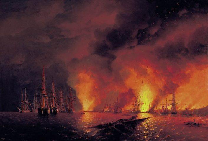 Aiwasowski_Die Schlacht von Sinope 1853_Battle_of_Sinope