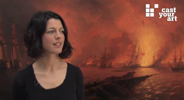 Lisa Kreil, Kuratorin, Bank Austria Kunstforum, Wien - Link zum Video über Aiwasowski-Ausstellung 2011
